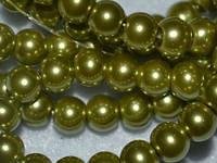 Бусина керамическая жемчуг 6мм, нить 140-150 бусин, фото 1