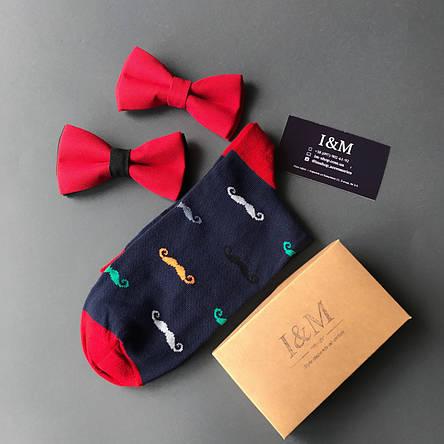 Носки I&M Craft Elegant's темно-синие с усами (070195), фото 2