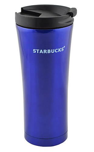 Термокружка Starbucks 500 мл. - синий, металлический стакан-термос Старбакс