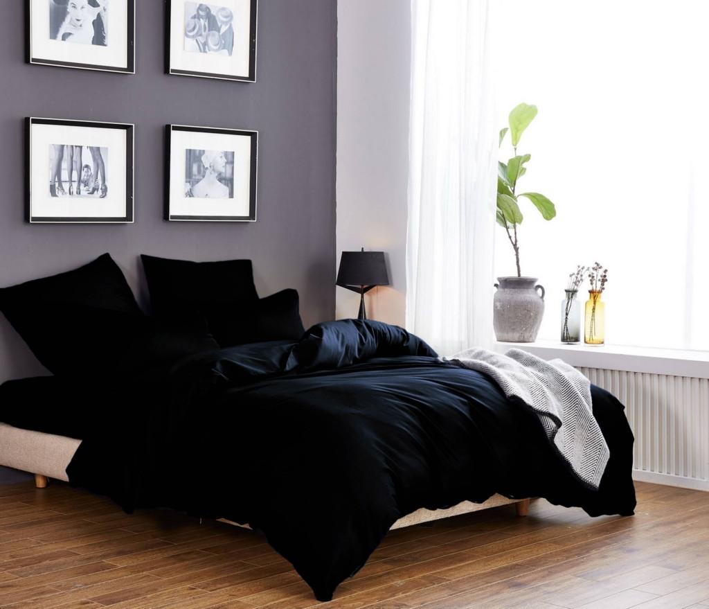 Стильный комплект постельного белья Solid Colours из натурального хлопка 200х220 евро