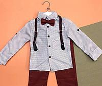 Комплект: штаны, рубашка,подтяжки и бабочка на 5 лет.