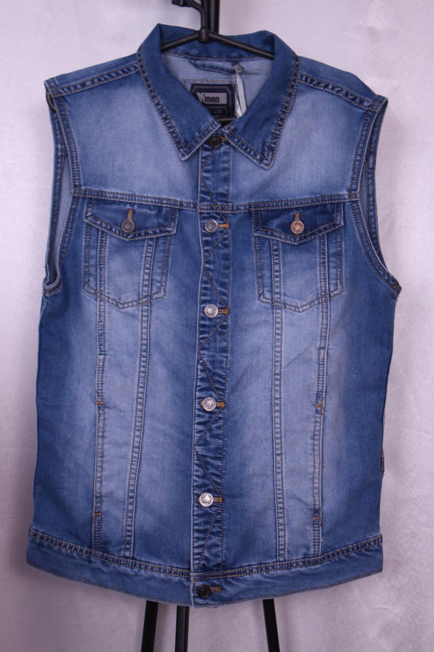 Стильна джинсова жилетка