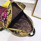 Рюкзак с пайетками школьный для девочки подростка фиолетовый., фото 5