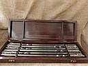 """Подарочный набор шампуров """"Охотничий трофей """" в кейсе из натурального дерева, фото 3"""