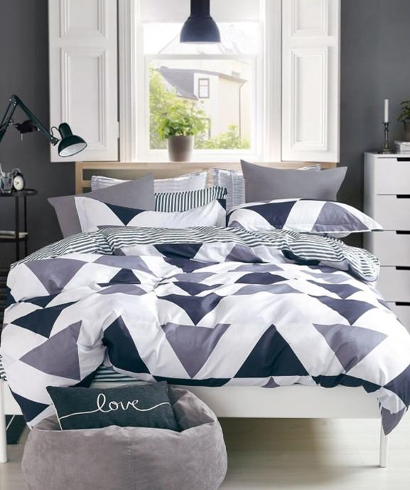 Стильный комплект постельного белья Tringl из натурального хлопка 200х220 евро