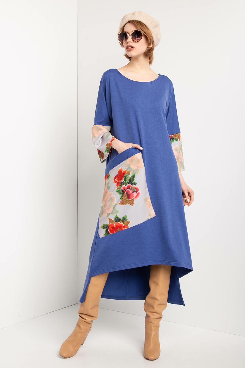 c79a817cd5a Трикотажное платье IRENE с широкими рукавами и асимметричным низом - motus в  Ивано-Франковске