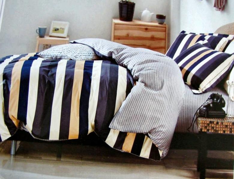 Стильный комплект постельного белья Garibaldi из натурального хлопка 200х220 евро