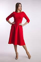 Червоне жіноче плаття класичне