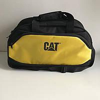 Спортивная вместительная сумка CAT жёлтая