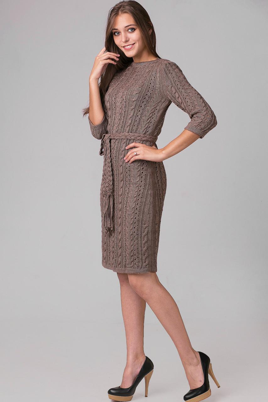 c0f13a9b907 Платье вязаное женское ажурное «Брук» (44