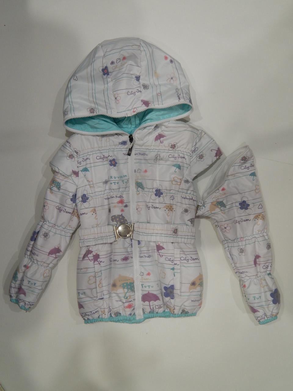 Куртка-желетка демисезонная для девочки ТМ Goldy р. 110,116