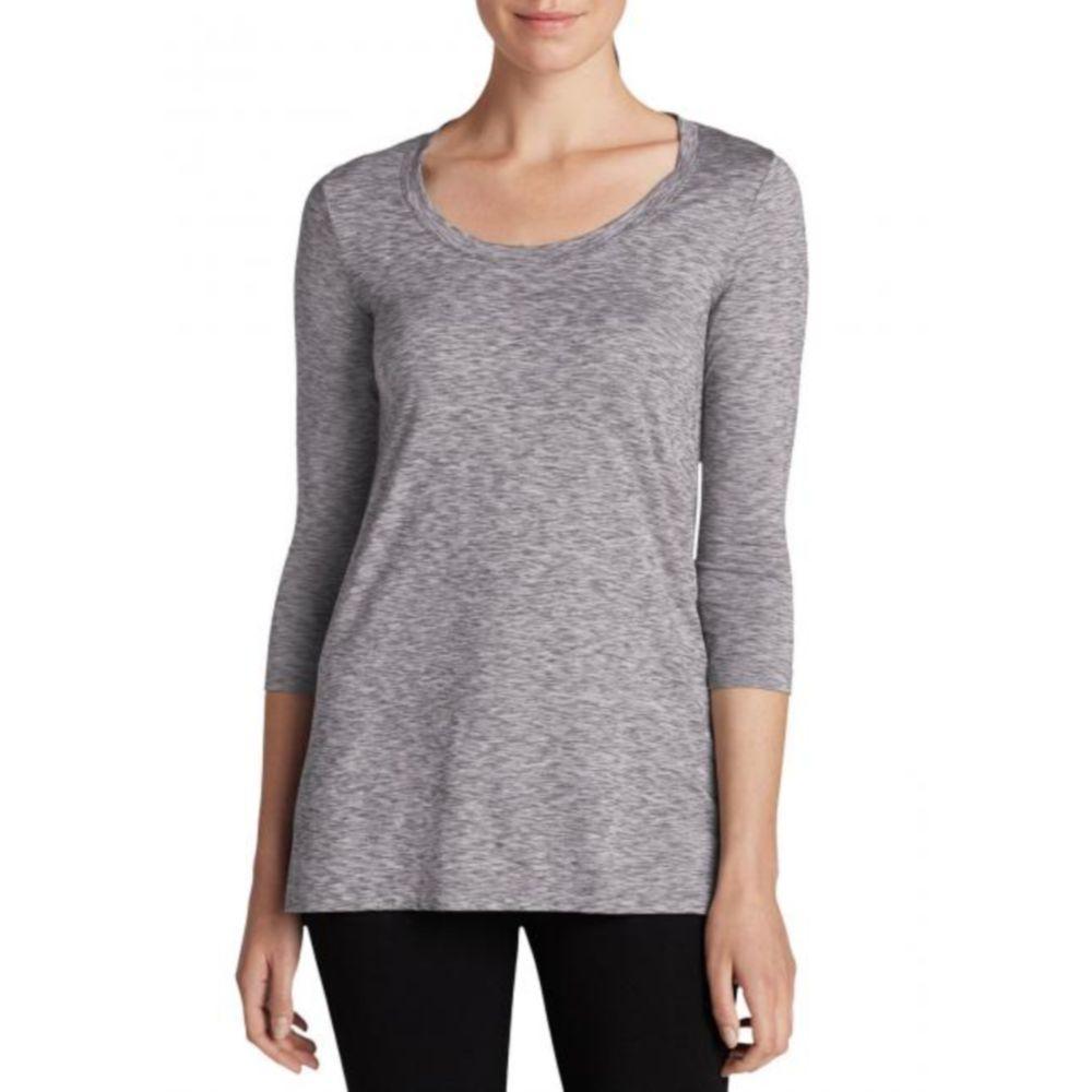Женская туника Eddie Bauer Womens Tunic Shirt 3/4-Sleeve GRAY (S)