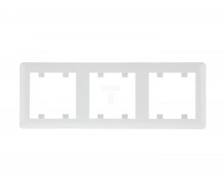 Рамка 3-кратна біла горизонтальна Lumina-2 Hager