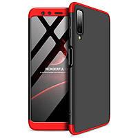 Пластиковая накладка GKK LikGus 360 градусов для Samsung A750 Galaxy A7 (2018) Черный / Красный