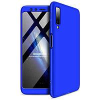 Пластиковая накладка GKK LikGus 360 градусов для Samsung A750 Galaxy A7 (2018) Синий