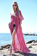 Женская шифоновая пляжная туника в горох
