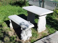 Стол и лавочка бетон
