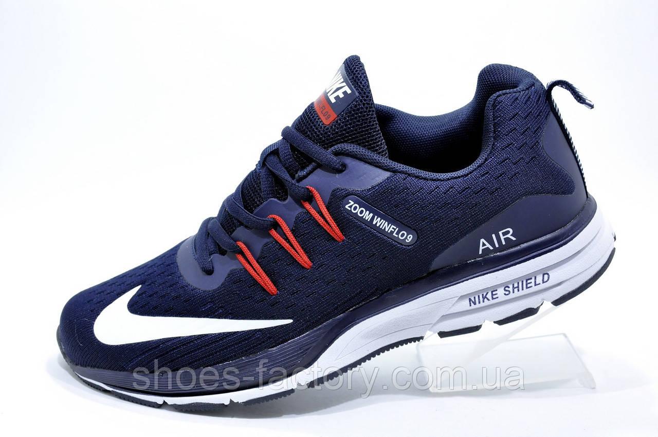 8cdf03b1 Беговые Кроссовки в Стиле Nike Air Zoom Winflo 9, Dark Blue 44-28см ...