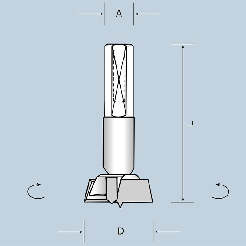 Чашечное сверло D26 L57,5 S10x26 LH (левое) 04202605722