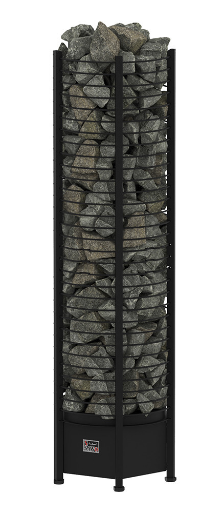 Каменка электрическая для сауны Sawo Tower Heater (башня) TH9-150NS Black