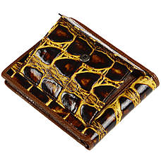 Портмоне мужское из натуральной кожи PEARTEN 120х95х20 застёжка кнопка м 1209кор, фото 3