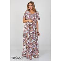 Платье для беременных и кормящих Paradise ЮЛА МАМА (огурцы на молочном, размер S), фото 1