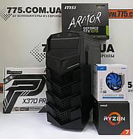 Игровой компьютер, AMD Ryzen 7 1700 3.7GHz (16 потоков), 16ГБ DDR4, SSD 240ГБ, HDD 1ТБ, GTX 1070 8ГБ, фото 1