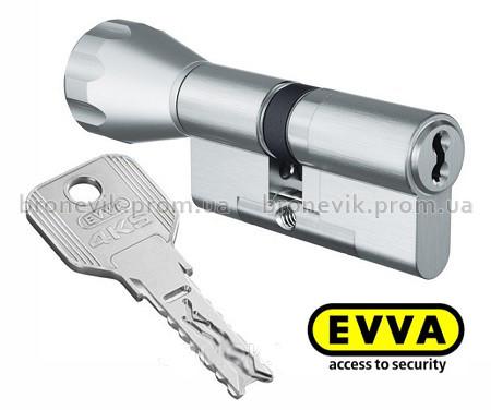 Цилиндр Evva 4KS KZ 107мм 51/K56 NI