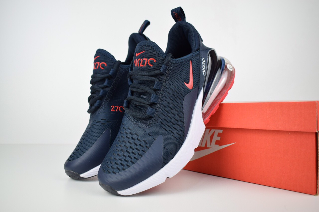 cheap prices lowest discount more photos Мужские кроссовки Nike Air Max 270 Blue/Red реплика р. 46(29см)