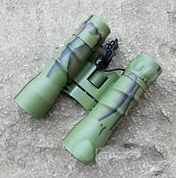Бинокль Bassell 22х32 camo призма ROOF, компактный + чехол, удобен в эксплуатации + чехол для туризма