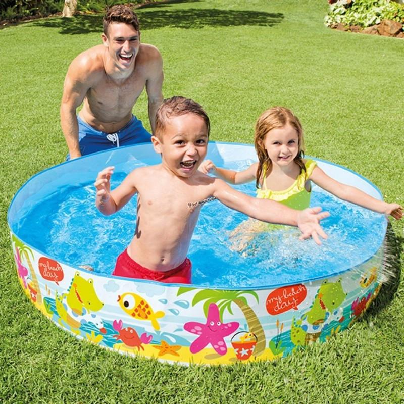 """Детский каркасный бассейн """"Пляж"""" Intex 56451 152х25см"""