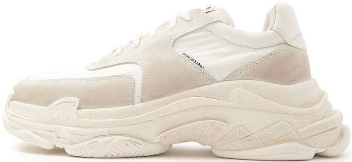 "Женские кроссовки Balenciaga Triple s V2 ""White/Beige"" в стиле Баленсиага"
