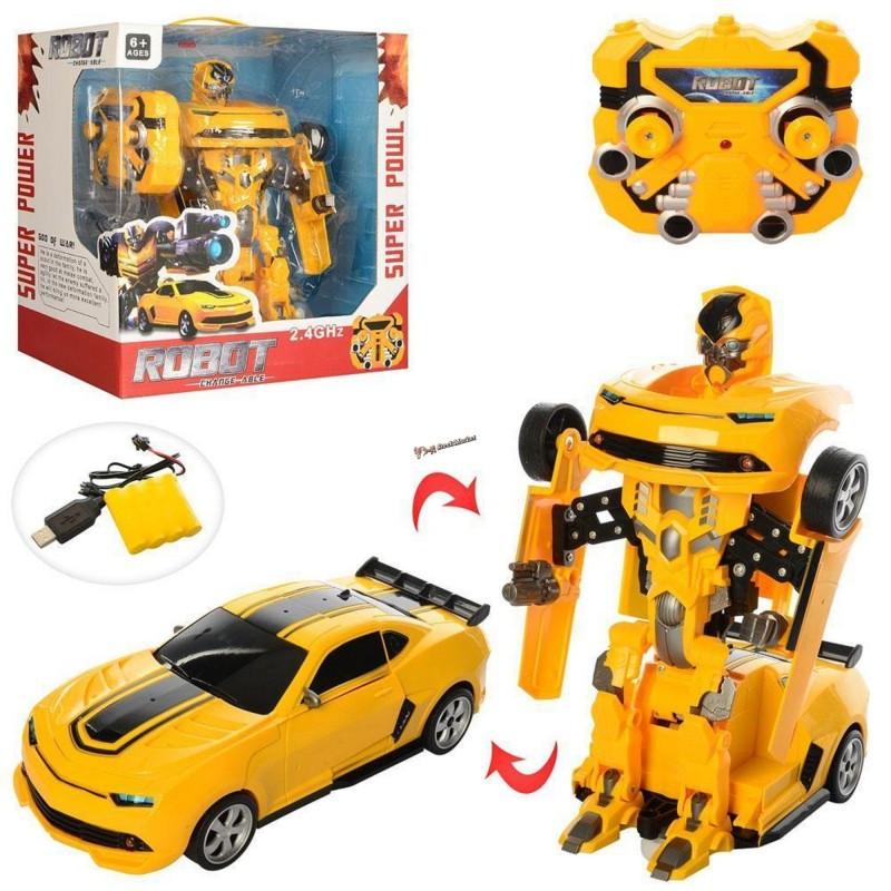 Детский робот трансформер Бамблби 8501 29см на радиоуправление