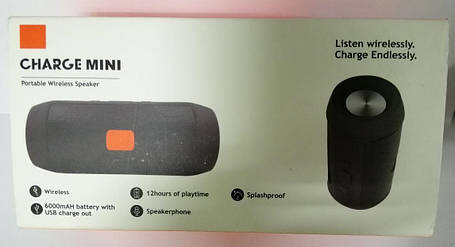 Bluetooth Колонка JBL Charger 2 Mini Black (Репліка) Гарантія 3 місяці, фото 2