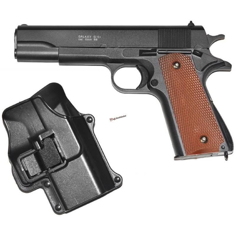 Страйкбольный пистолет Galaxy G.13+ (Colt 1911 Black)