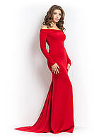 Нарядное платье  в пол зетта красное