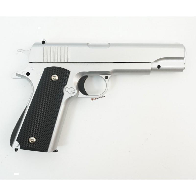 Страйкбольный пистолет Galaxy G.13S (Colt 1911 Silver)