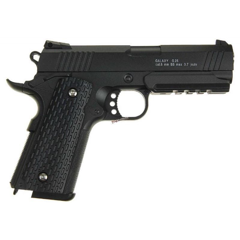 Страйкбольный пистолет Galaxy G.25 (Colt 1911 Rail)