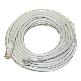 Патч-корд RJ45 20м, мережевий кабель UTP Cat.5E Lan
