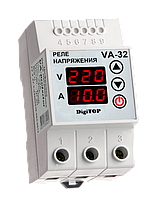 Реле напряжения с контролем тока DigiTop VA-32A