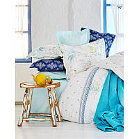 Набор постельное белье с покрывалом + пике Karaca Home Casimiro евро