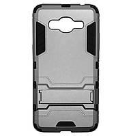 Бронированный противоударный чехол Stand для Samsung Galaxy Grand Prime SM-G530H / G531H Grey