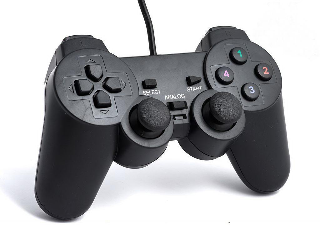 Компьютерный джойстик с аналогами и вибро (игровой манипулятор, геймпад) DJ-208