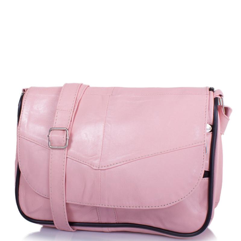 e7566cc4e998 Маленькая женская сумка кросс-боди Yunona 2409-13 кожаная нежно-розовая -  Мистер