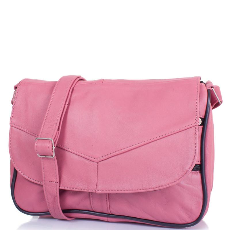 ab0d1e3d1b70 Маленькая женская сумка кросс-боди Yunona 2409-31 кожаная розовая - Мистер  Воллет на