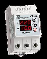 Реле напряжения с контролем тока DigiTop VA-50A