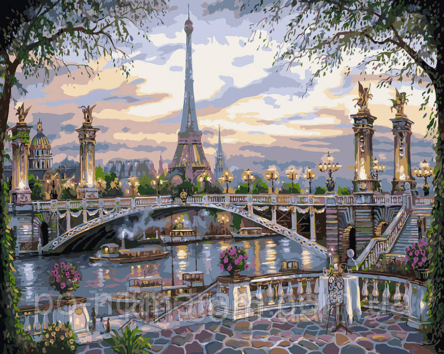 Картина по номерам Идейка Воспоминание о Париже КН1148 40 х 50 см