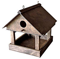"""Кормушка для птиц деревянная, """"Горихвостка"""", оригинальные кормушки для птиц, домик для синичек"""