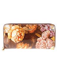 Кошелек Helen Verde 2480-F47 кожаный лакированный с цветочным принтом