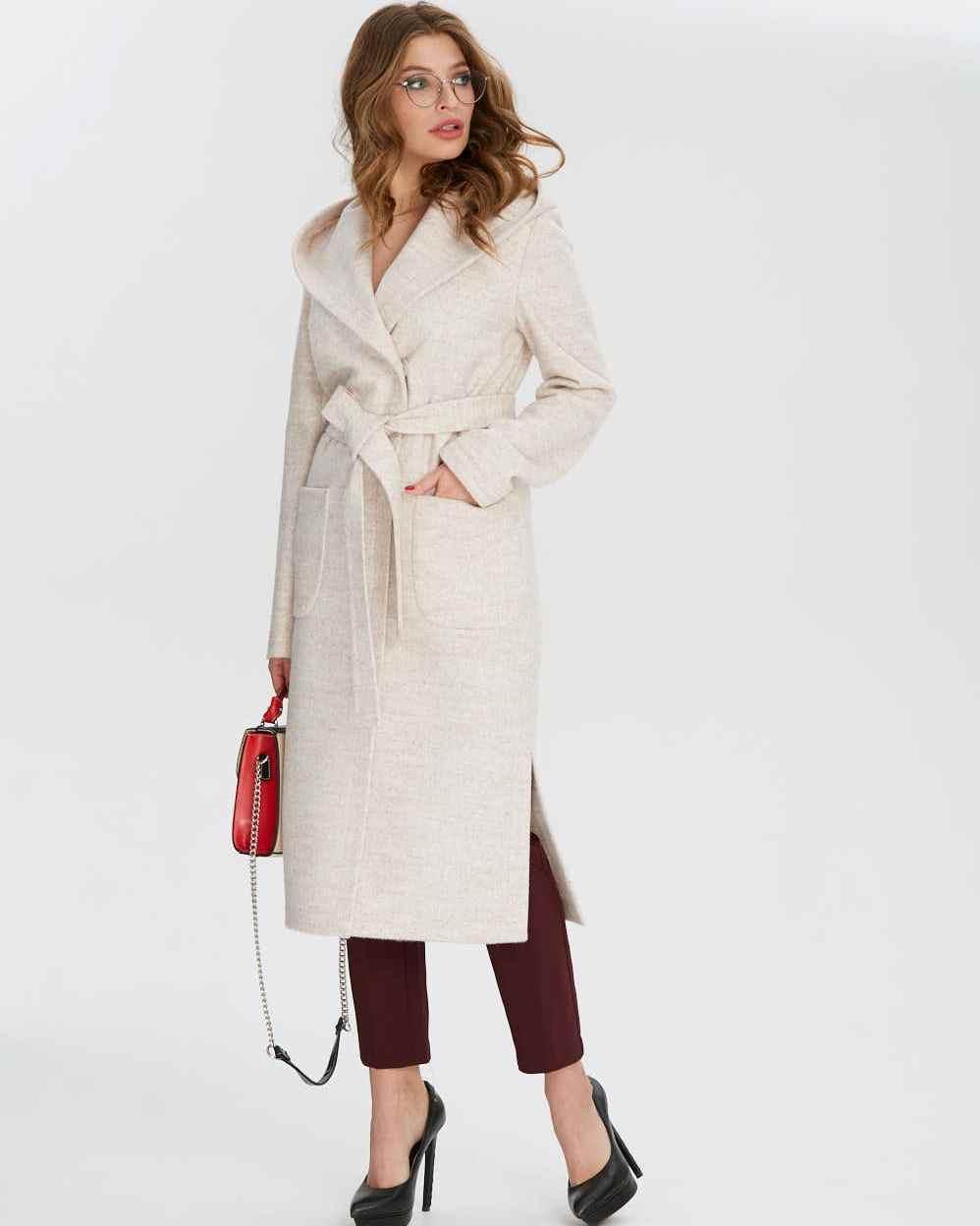 Легкое пальто без подкладки с капюшоном, размеры 44-56
